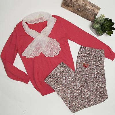 4Pcs Womens Clothing Outfit Lot Ann Klein, Printed pants sweater Size Large/12