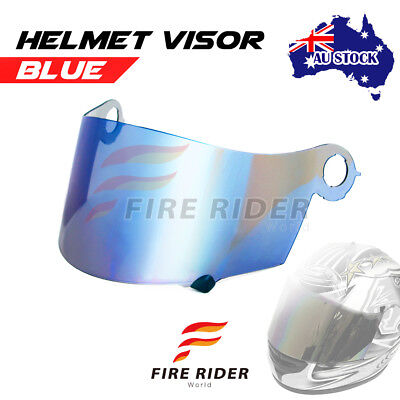 For Suomy Spec 1R Extreme Excel Ultra Tech BLUE Racing Helmet Visor Shield AU