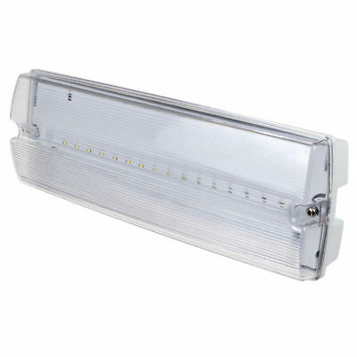 LED Emergency Bulkhead Light Fitting - 3 Watt Maintained / Non-Maintained 3 Hour