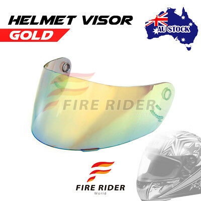 For Shoei X-11 XR-1000 X-SPIRIT RF-1000 GOLD Racing Helmet Visor Shield AU