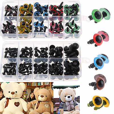 100pcs Black/Color Plastic Safety Eyes Toy Teddy Bear Doll Making Animal Craft