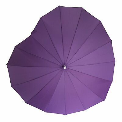 Soake Boutique Heart Shape Long Stick Umbrella (Purple)