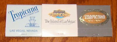 Lot of 3 Vintage Tropicana Hotel, Country Club, Casino Matchbooks