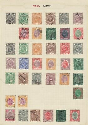 Nw18  Extremely Early Stamps From Perak. Pahang. Malaysia From Very Old Album