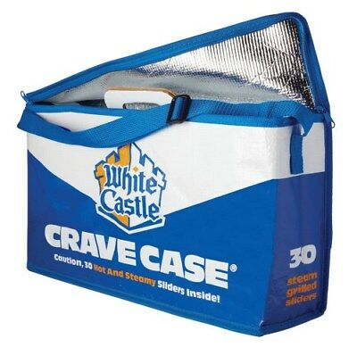 New White Castle Crave Case Insulated Bag 30 Pack Slider Caddy HOT Delivery Bag