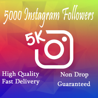 Instagram Followérs (5000+ follow ) Fast Delivery , Non Drop Cheapest on eBay