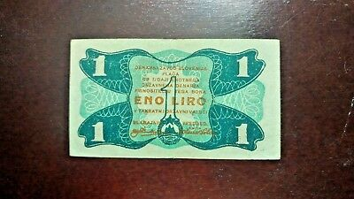 SLOVENIA, banknote  1 LIRE, 1944 - partisan money, WWII , star note, AA series