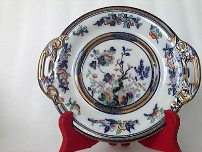 Antique Pinder & Bourne Cake Plate Dresden Pattern In Mint Condition Age 1874