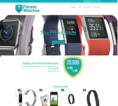 Fully Stocked Fitness Watches business - FREE Domain/Hosting. Upto £70 per sale