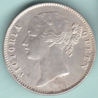 British India - 1840 - Victoria Queen - Divided Legend - One Rupee - Rarest Coin