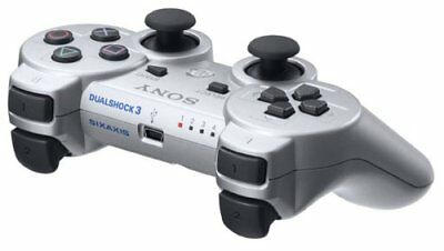New PS3 Wireless Controller Dual Shock 3 Satin Silver PlayStation 3 Japan import
