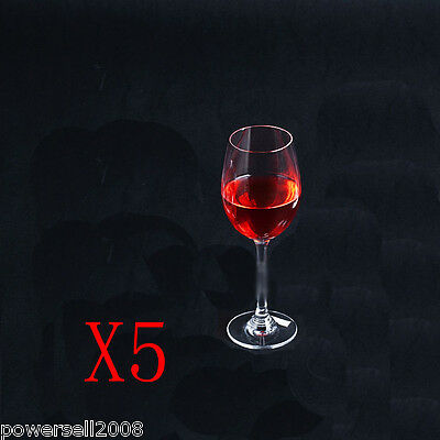 5X 385ML Simple Fashion Crystal Glass Red Wine Foreign Wine Goblet Multi-Use NN