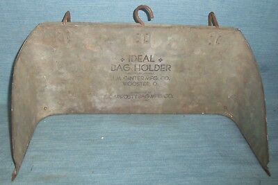 Antique Country Hardware Store Bag Holder J.m. Ginter Wooster Ohio Advertising