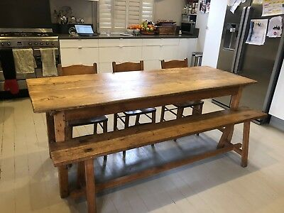 Antique Wooden bench (table sold separately)