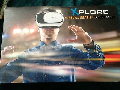 Xplore 3D Virtual Reality Headset Glasses 360 Degree Vision For Iphone & Android