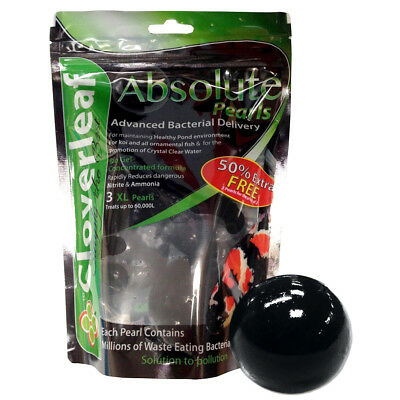 Cloverleaf Absolute Pearls Xl Nitrate Ammonia Pond Treatment Filter Safe Fish
