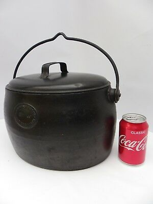 Large Heavy Victorian Iron Cooking Pot A. Kenrick & Sons West Bromwich 2.5 Gal