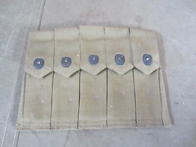 13B Original Wwii Us M1 Thompson 5 Cell 20Rd Ammo Pouch