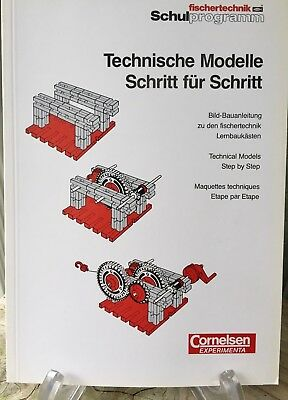 Fischertechnik Manual Technical Model Step by Step Illustrated Book 127 pages
