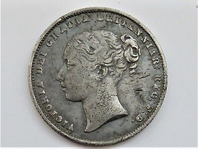 queen victoria shilling 1859 nice detail metal detecting find