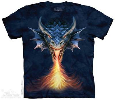 Fire Breather T-Shirt from The Mountain Company. Dragon Fantasy Tee S-5XL NEW
