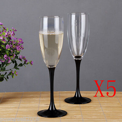 5X 185ML Simple Noble Crystal Glass Foreign Wine Goblet Multi-Use Champagne NN