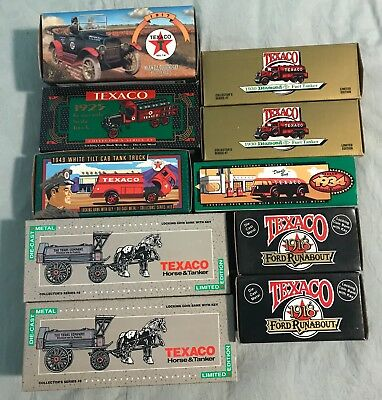 Lot Of 10 Texaco Collectible Cars/trucks/banks Die Cast - All New In Box - Ertl