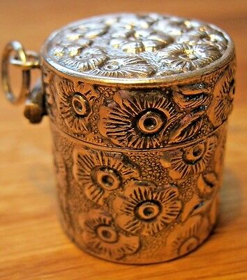 Beautiful Hallmarked Solid Sterling Silver Daisy Flower Thimble Case Chatelaine