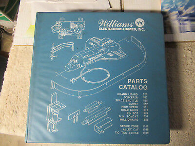 Williams Pinball Parts Catalog Space Shuttle Cover Hard 12 Pinballs