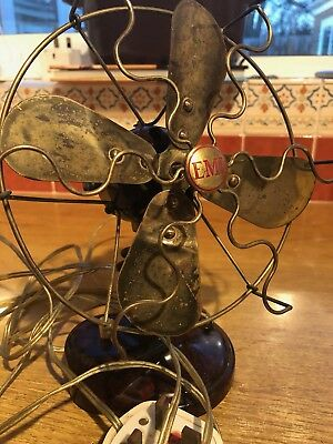Vintage Antique Art Deco Brass Bakelite Emi Desk Fan B384 Collectable