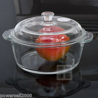 1L Simple Fashion Toughened Glass Cooker Multi-Use Cover Band Heat Resistant NN