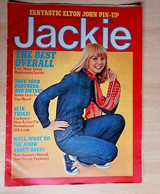 Jackie Magazine Comic 15th May 1976 Elton John Fashion Pop Beauty Problems