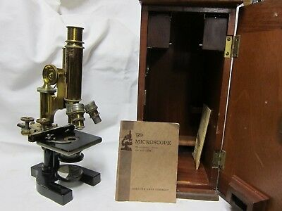 Vintage Bausch and Lomb Brass Microscope Pat.1897