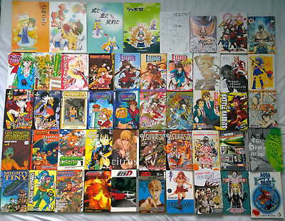 Bundle of 48 Manga Books (lot, joblot, Gundam, Battle Rabbits, Yotsuba&!, GTO)