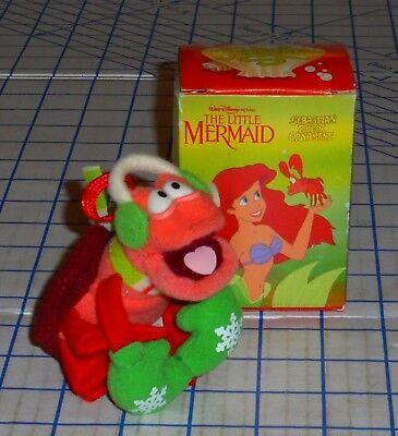 McDonalds The Little Mermaid Sebastian Plush Crab 1989 Christmas Ornament MIB