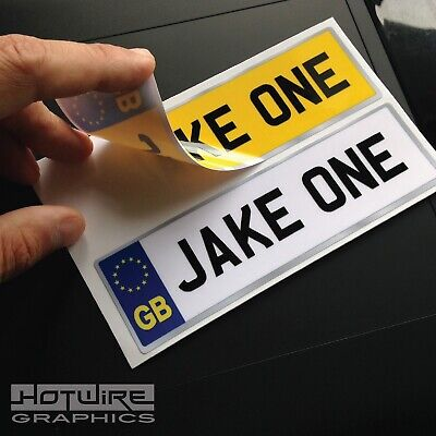 Personalised Kid's GB NUMBER PLATES FOR CHILDS RIDE ON CAR, JEEP, TRUCK (PAIR)