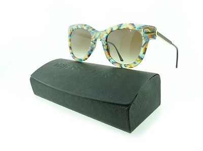 Thierry Lasry Sunglasses Nudity V742 White Multi-color / Gradient Brown