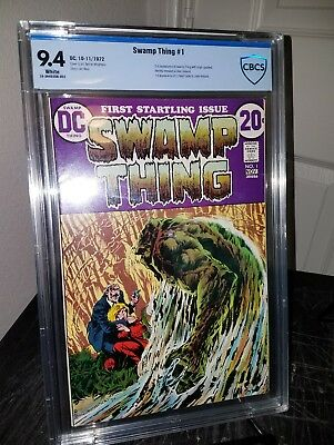 Swamp Thing 1 1972 CBCS 9.4 White Pages Berni Wrightson High Grade RARE GEM KEY