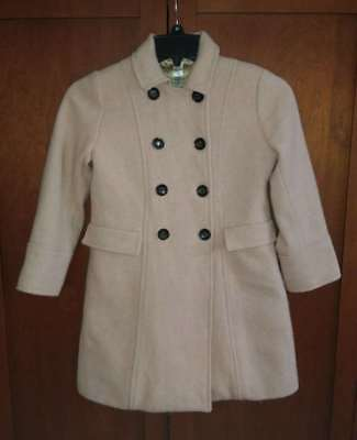 BONPOINT Girl's 8 Pink Wool Coat Easter