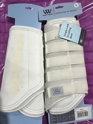 2NDS - Woof Wear Single Lock Brushing Boots - WHITE L ONLY