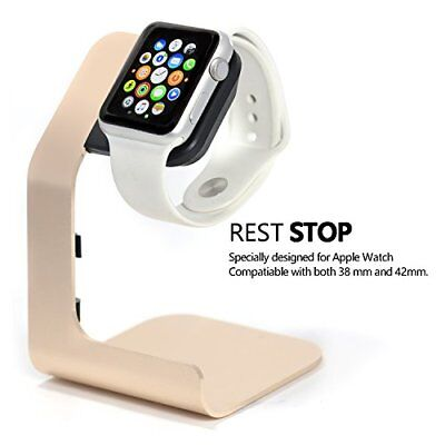 Apple Watch Stand-Tranesca Aluminum charging stand for 38mm and 42mm watch- Gold