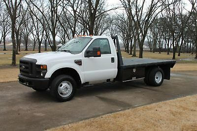2008 Ford F-350 XL 4WD Flat Bed w/Powerstroke Diesel One Owner Perfect Carfax 4WD Power Windows and Locks Flat Bed