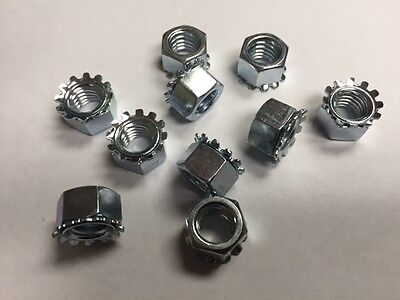 12/24 Keps Lock  Nuts Steel Zinc Plated 500 count box