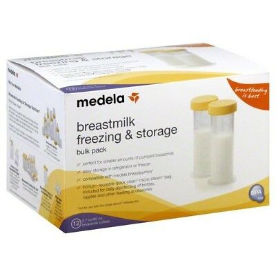 Medela Breastmilk Freezing and Storage Pack 12 Bottles and Micro-Steam Bag NEW!