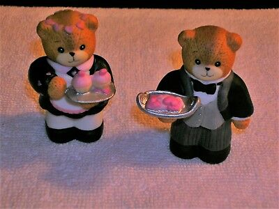 Lucy & Me ~ Butler and Maid Bears   ~ Porcelain Figurine  1990
