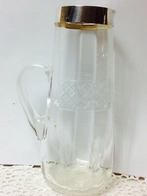 c.1909 ANTIQUE HM LONDON SILVER COLLAR WATER GLASS JUG