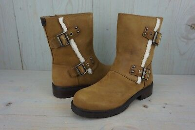 c584827b0df UGG Niels 1018607 Chestnut Leather Water Resistant Moto Boots Us 9.5 ...