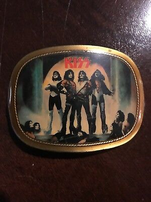 vintage kiss belt buckle 1977