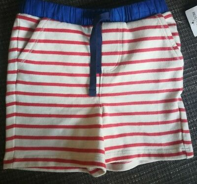 Baby Boden Boys Red Striped jersey Shorts Size 12-18 M NWT