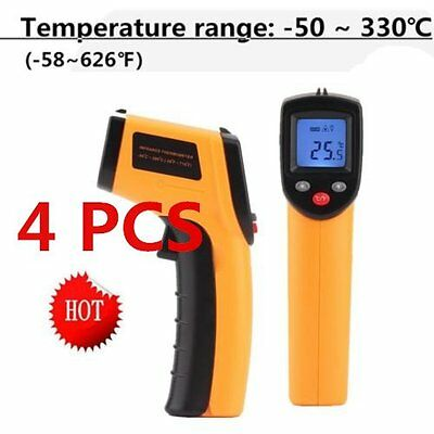 4X Nice Non-Contact LCD IR Laser Infrared Digital Temperature Thermometer Gun TO